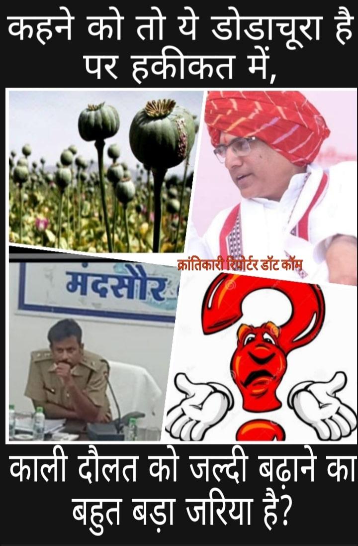 #सीतामऊ पुलिस ने 15 क्विंटल डोडाचूरा पकड़ा... पर आरोपी #मंदसौर बायपास पर खड़े तोड़ के उधार वाले महेंद्र को बना दिया...?